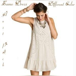 Ungee Pale Mauve Babydoll Boho Flutter Dress